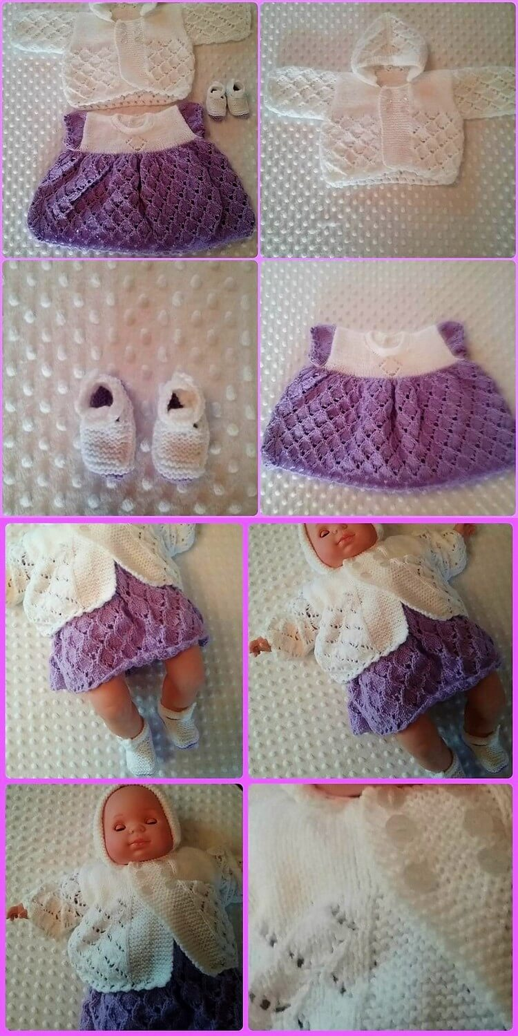 Crochet Dress for Doll