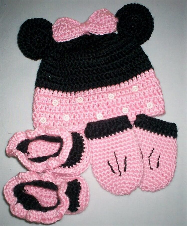Crochet Hat and Booties