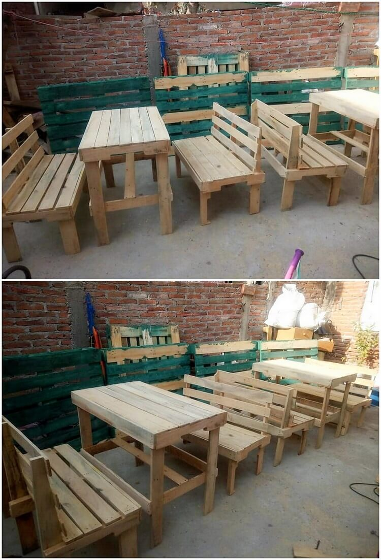 Pallet Benches and Table