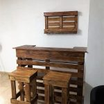 Wood Pallet Bar and Stools