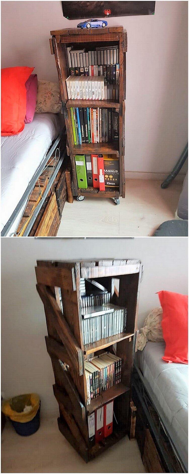 Pallet Bookshelving Stand