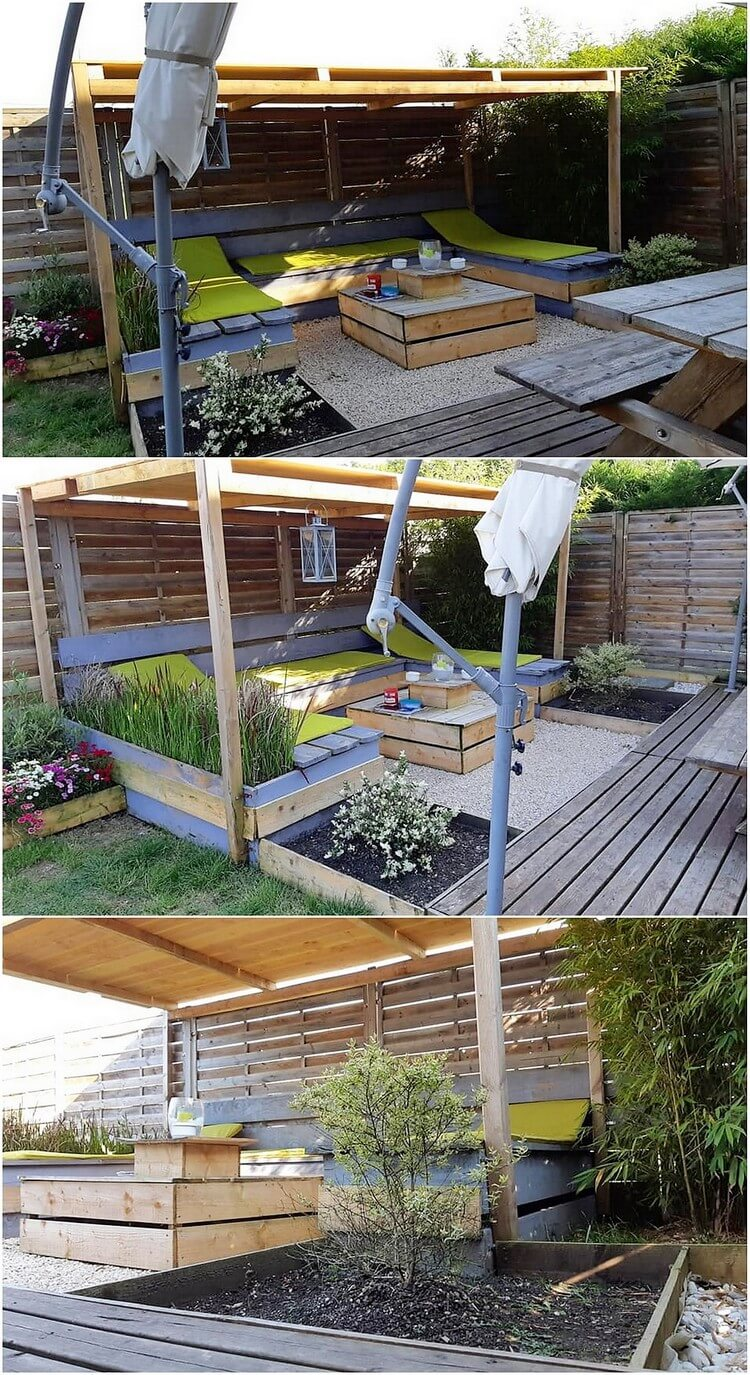 Pallet Garden Furniture with Terrace