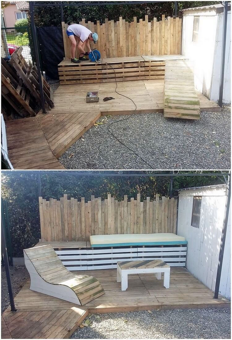 Pallet Garden Terrace and Furniture