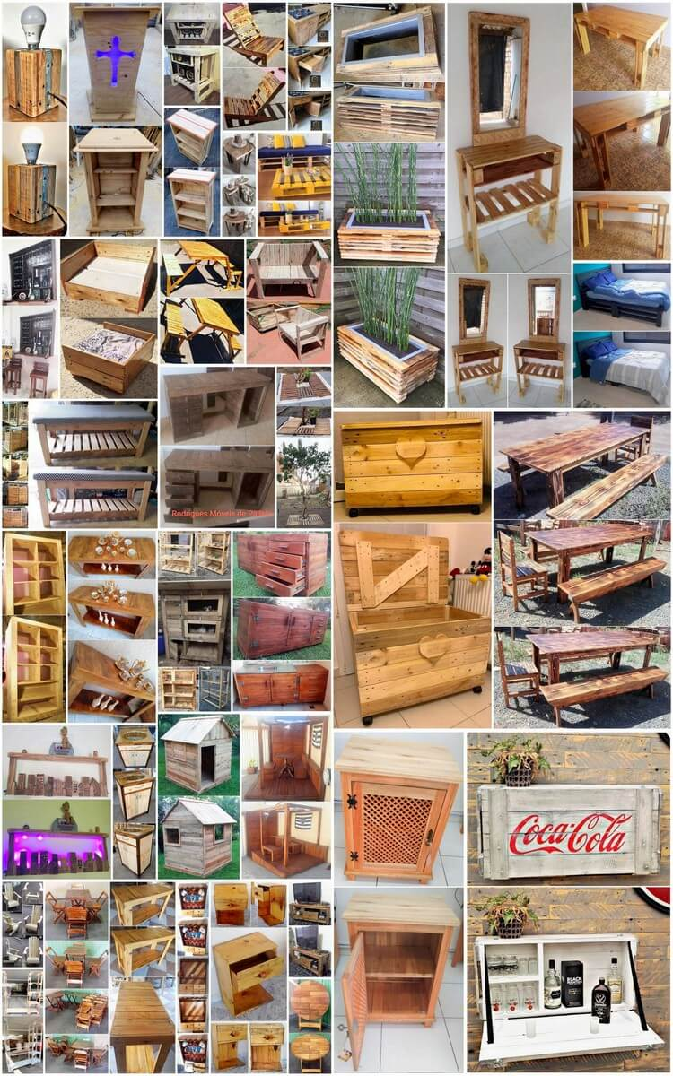 40 Latest Diy Wood Pallet Furniture Ideas And Designs Recycled Crafts