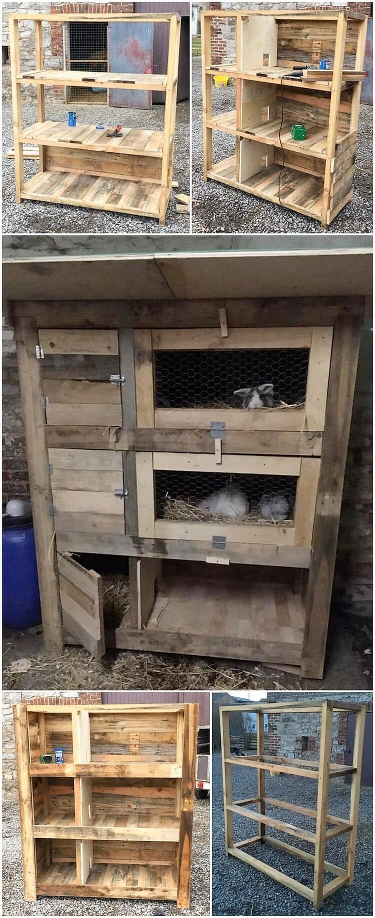 DIY Pallet Rabbit Hutch