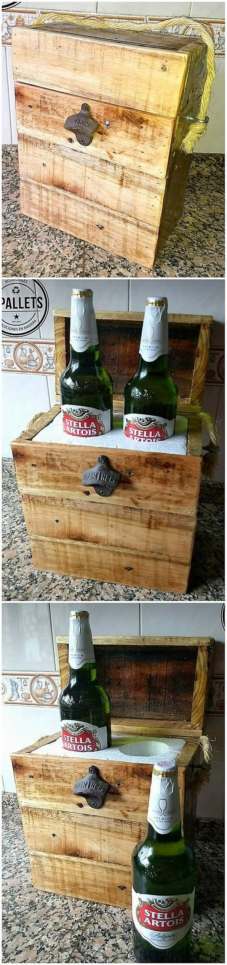 Pallet Beer Bottles Storage Box