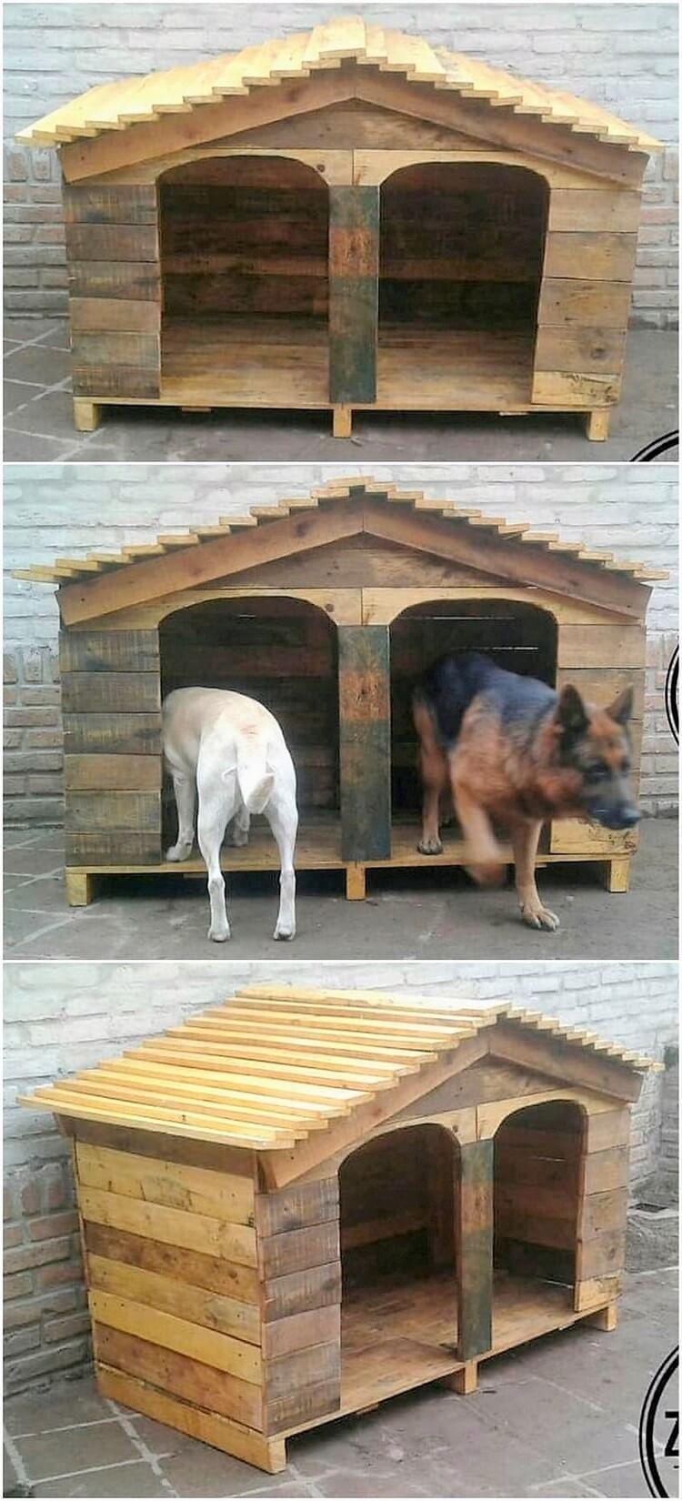 Pallet Double Pet House