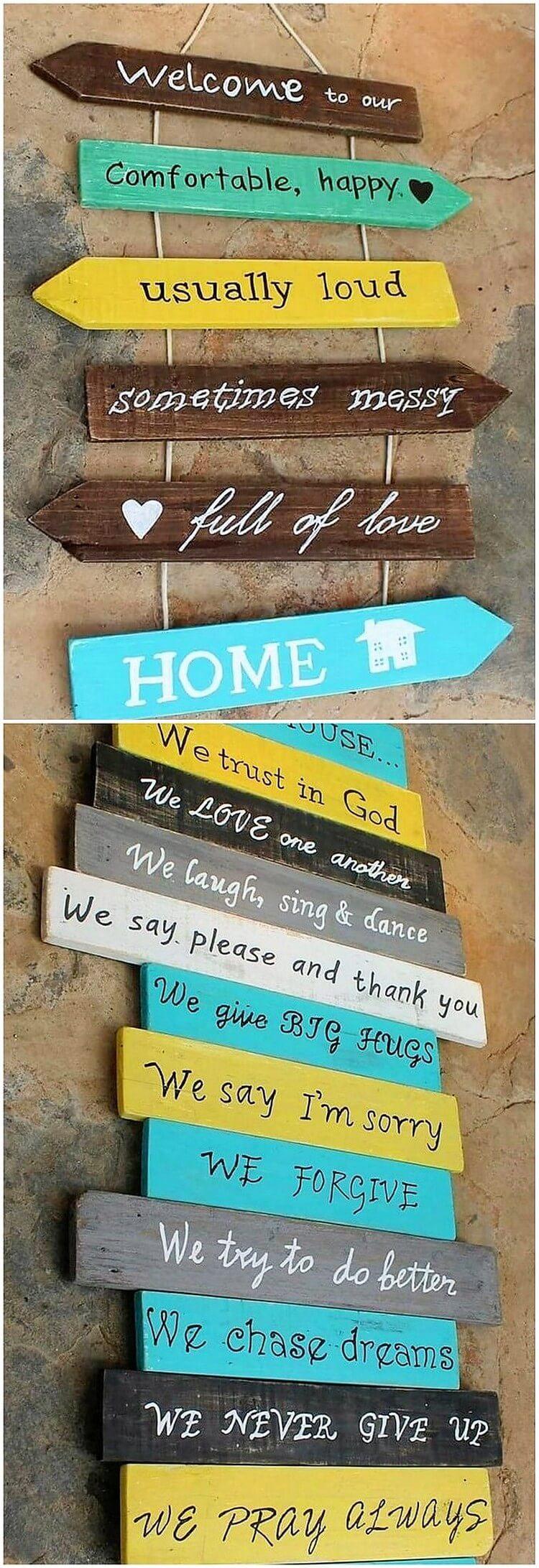 Pallet Sign Boards