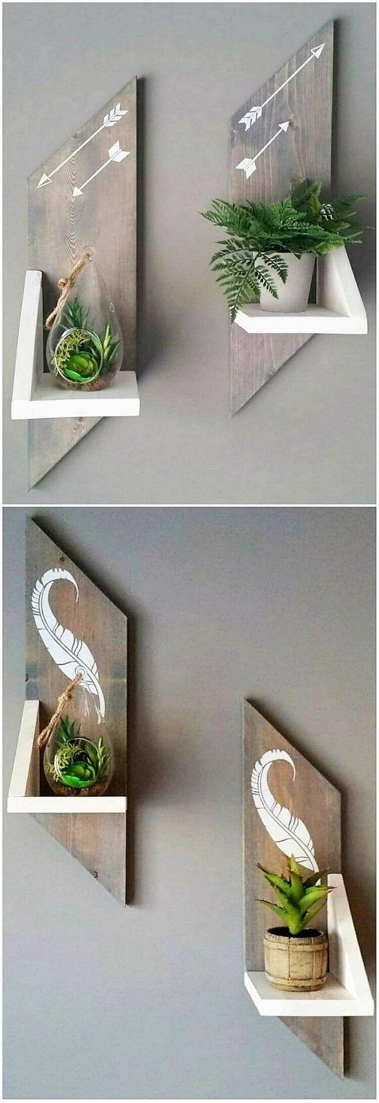Beautiful Pallet Wall Shelves