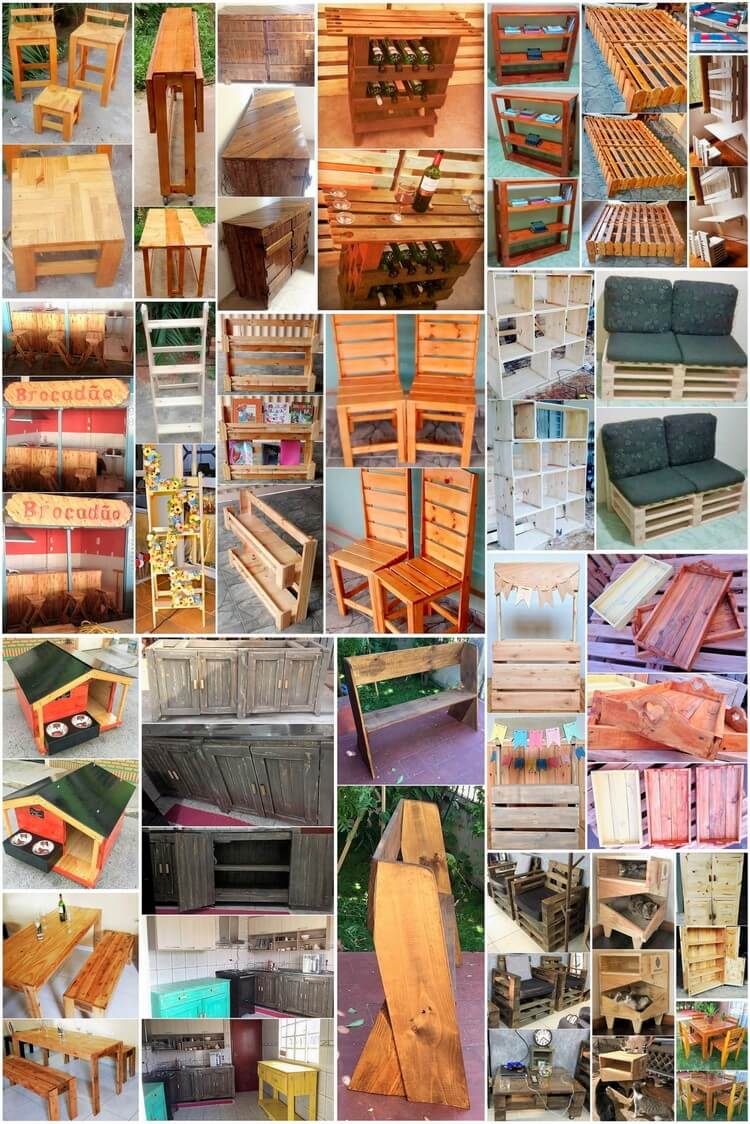Interesting DIY Projects with Old Wooden Pallets