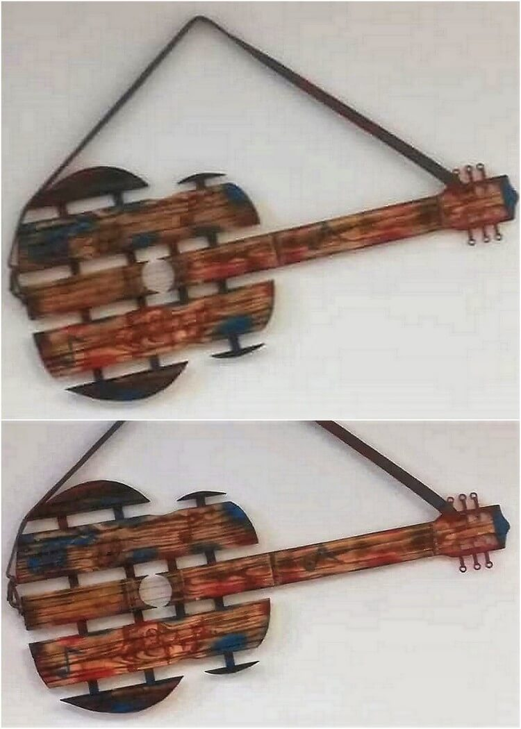 Pallet Guitar Creation