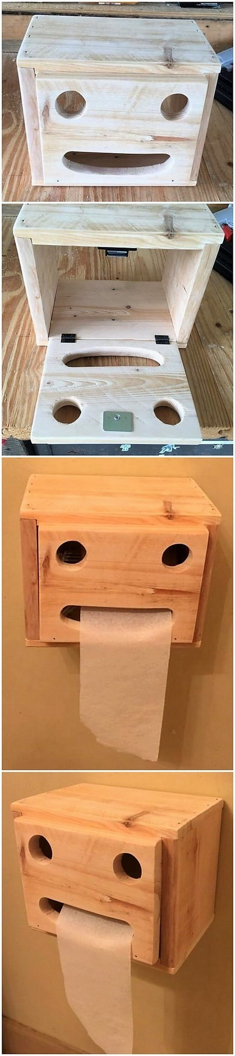 Pallet Toilet Paper Roll Holder