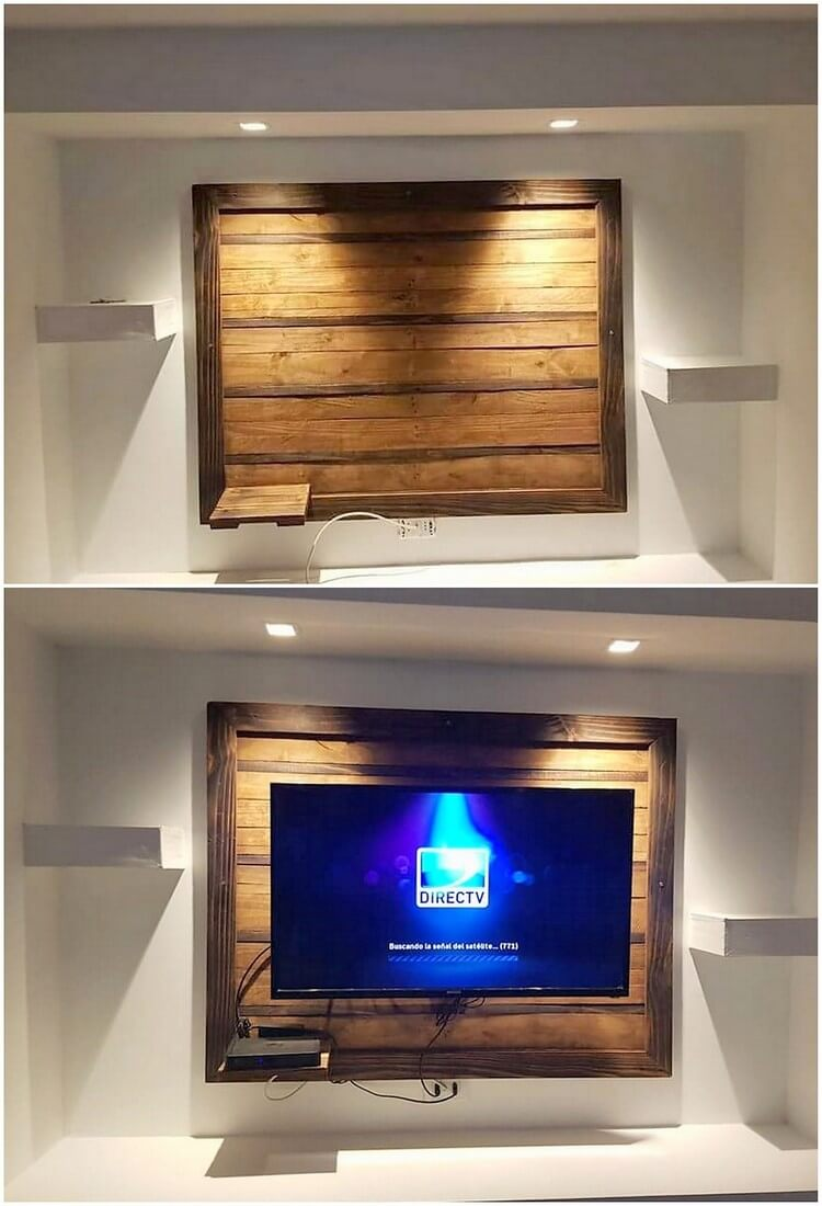 Pallet Wall LED Holder