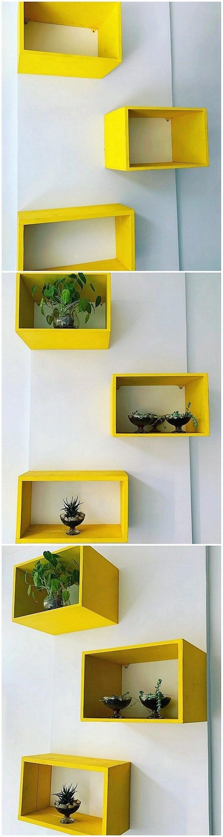 Pallet Wall Shelves