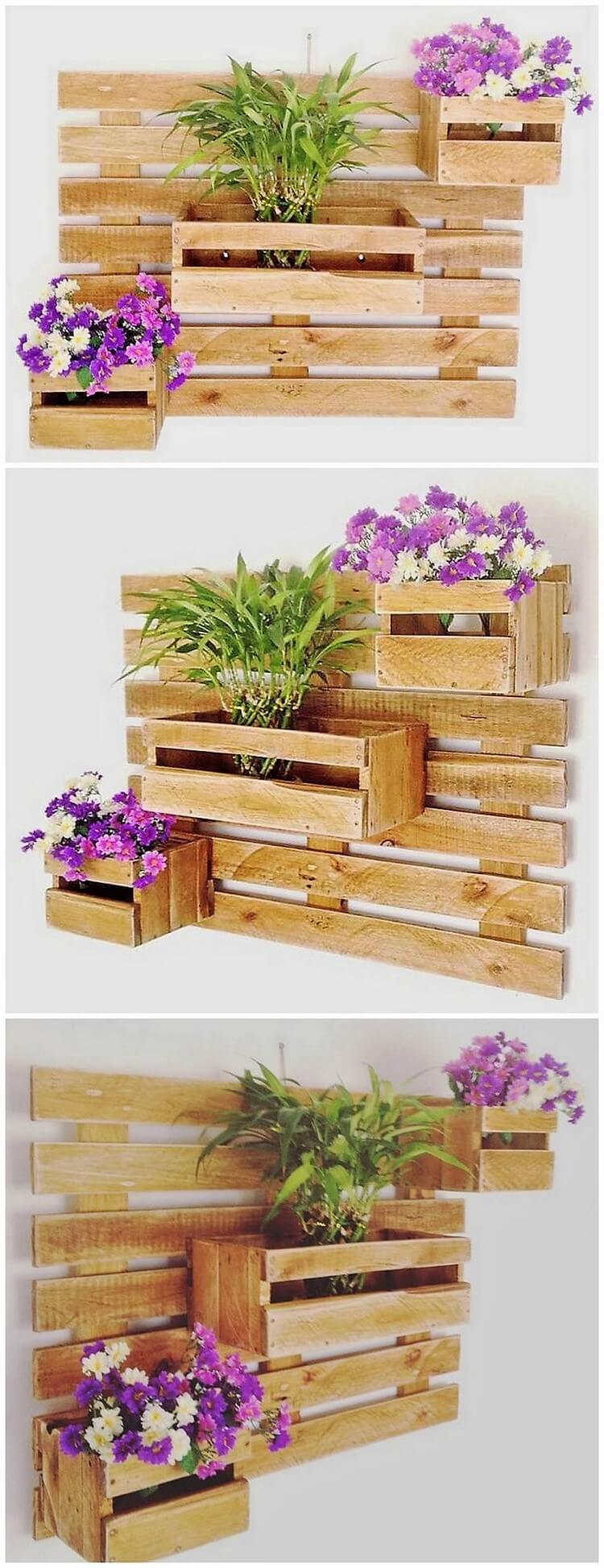 Pallet Wall Decor Planter
