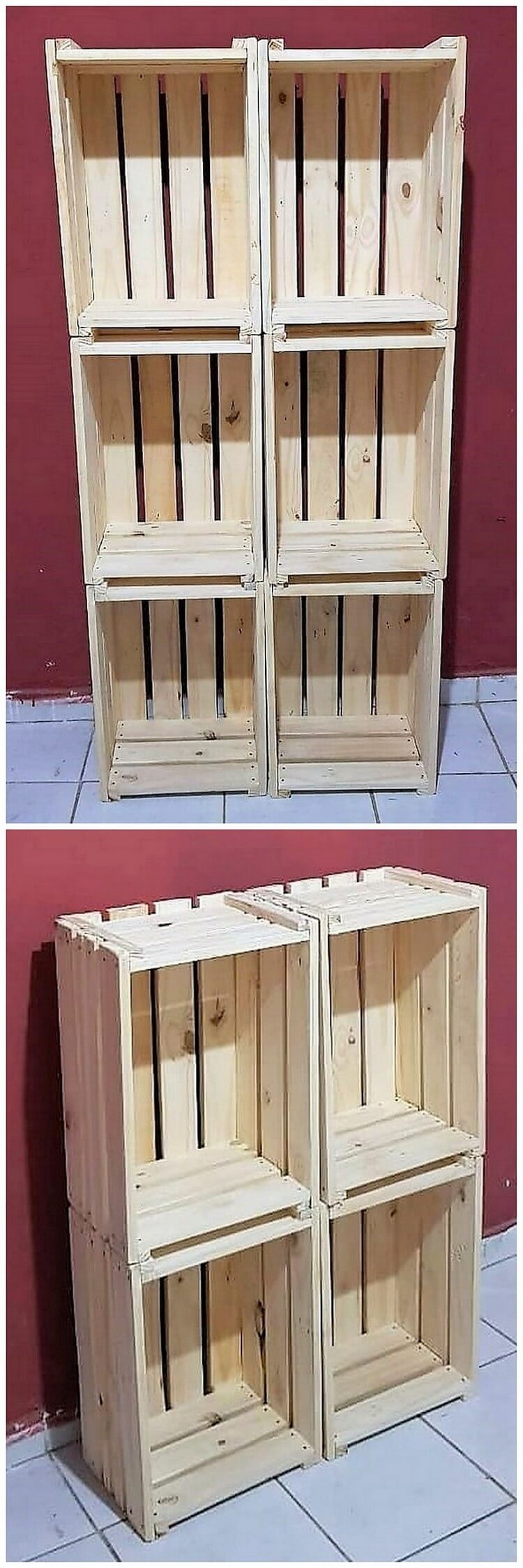 Pallet and Crates Shelving Unit
