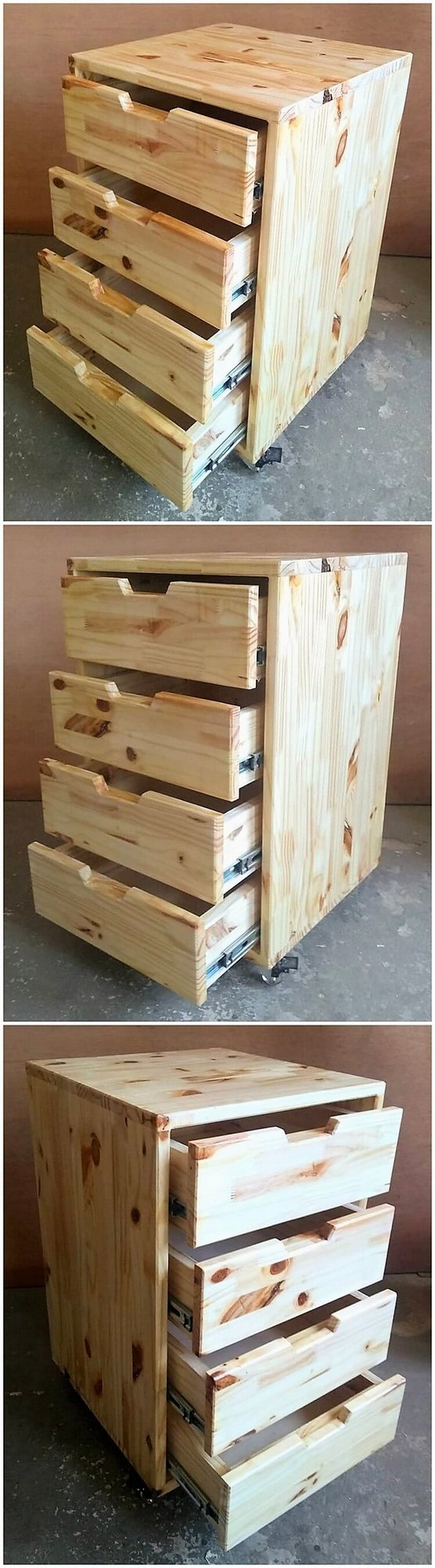 Pallet Chest of Drawes