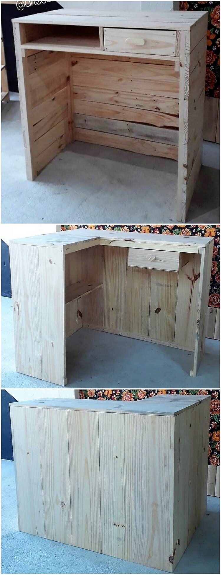 Pallet Counter Table with Drawer