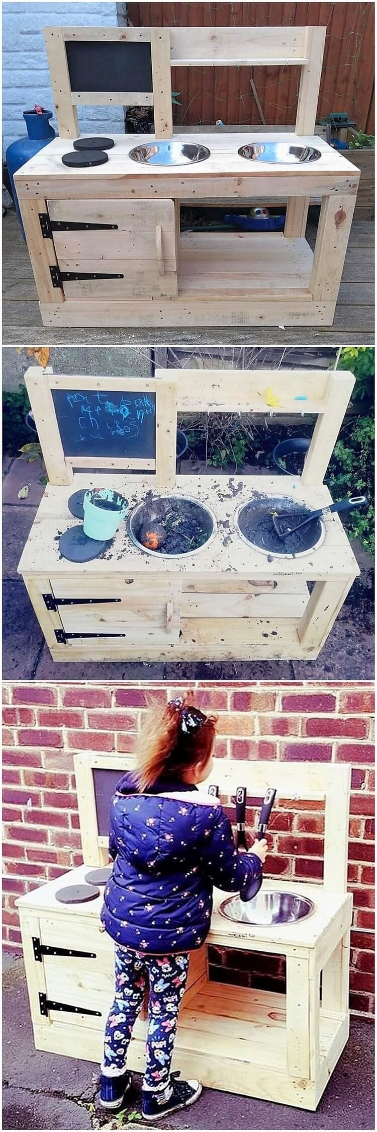 Pallet Mud Kitchen for Kids