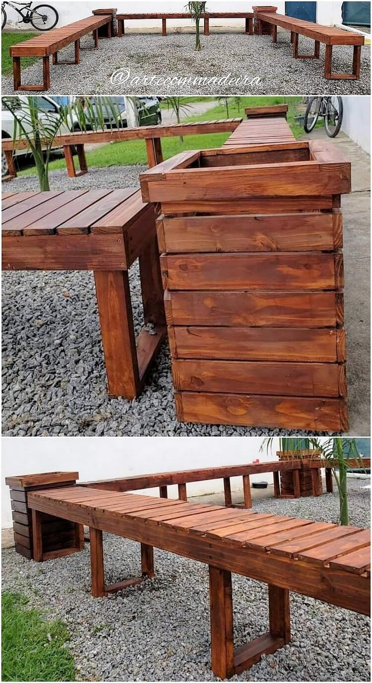Pallet Outdoor Benches