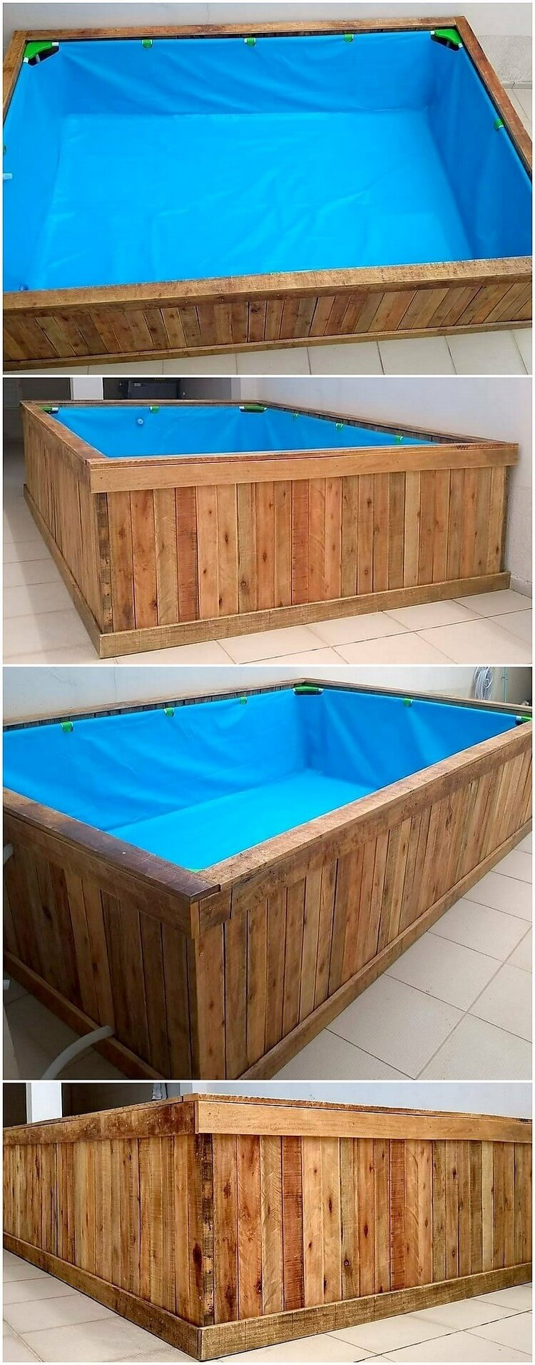 Pallet Swimming Pool for Kids
