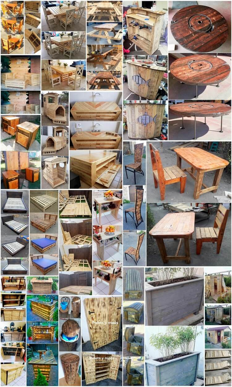 Stunning DIY Wood Shipping Pallet Recycling Projects