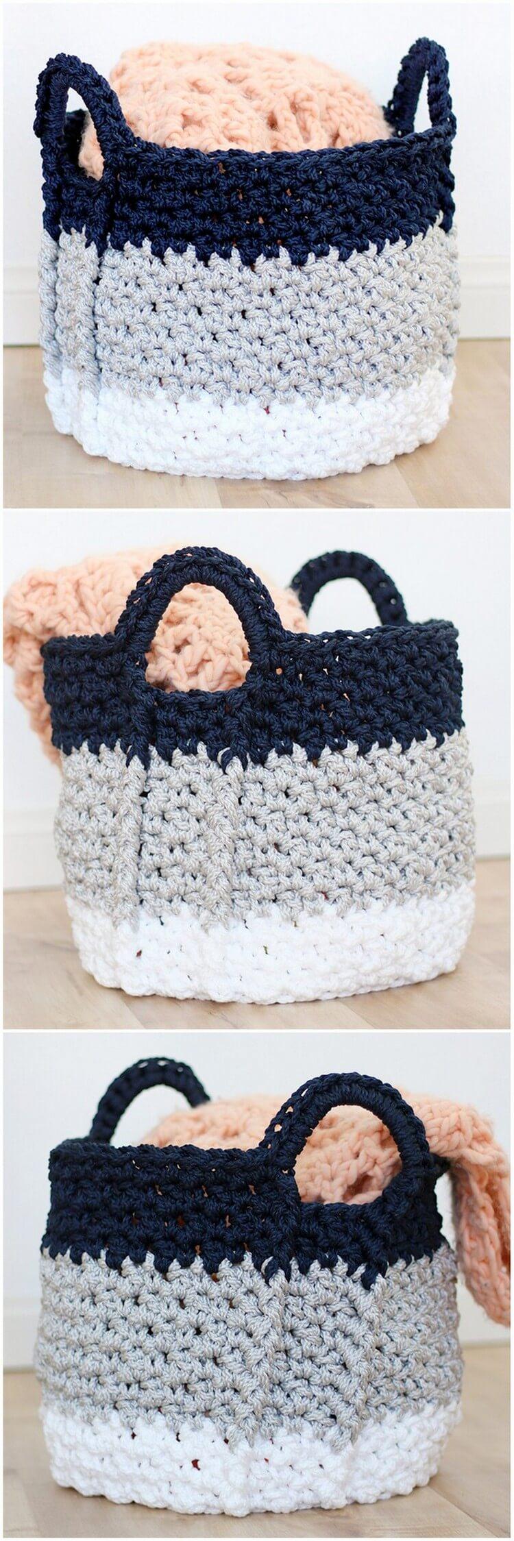 Crochet Basket Pattern (1)