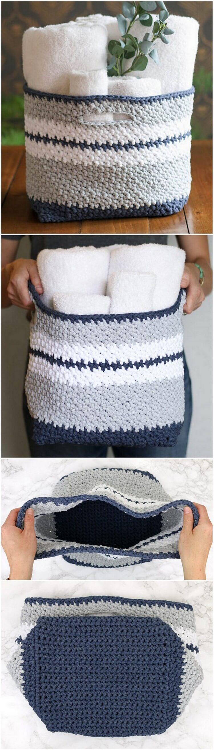 Crochet Basket Pattern (10)