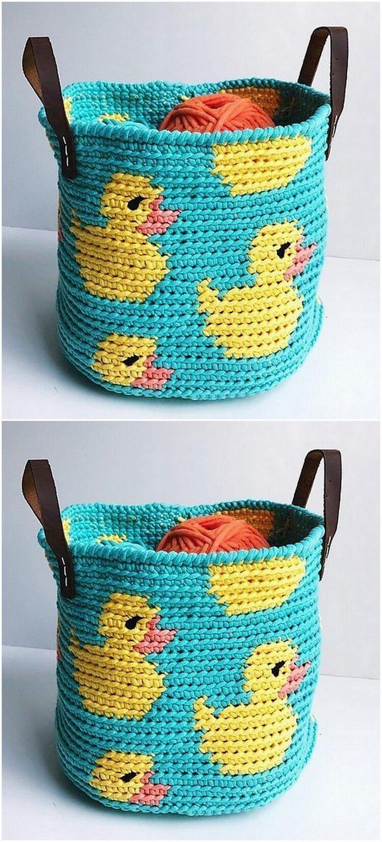 Crochet Basket Pattern (102)