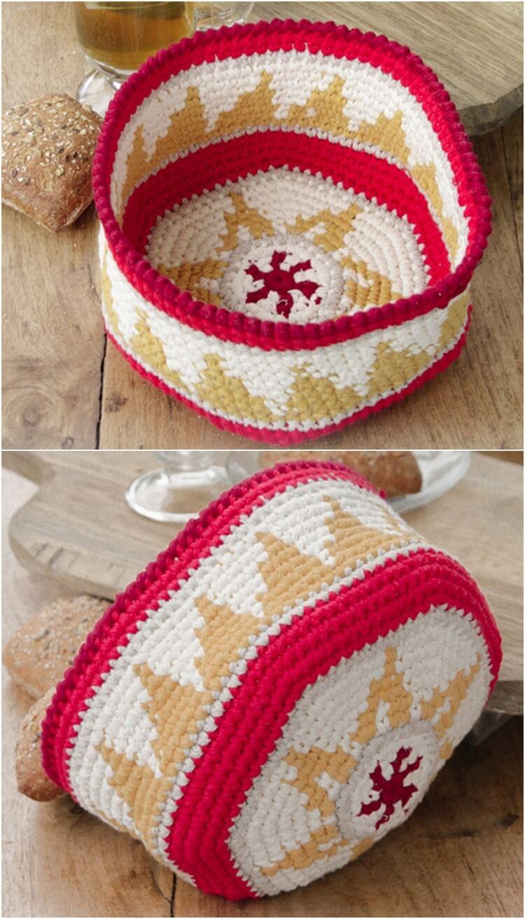Crochet Basket Pattern (13)