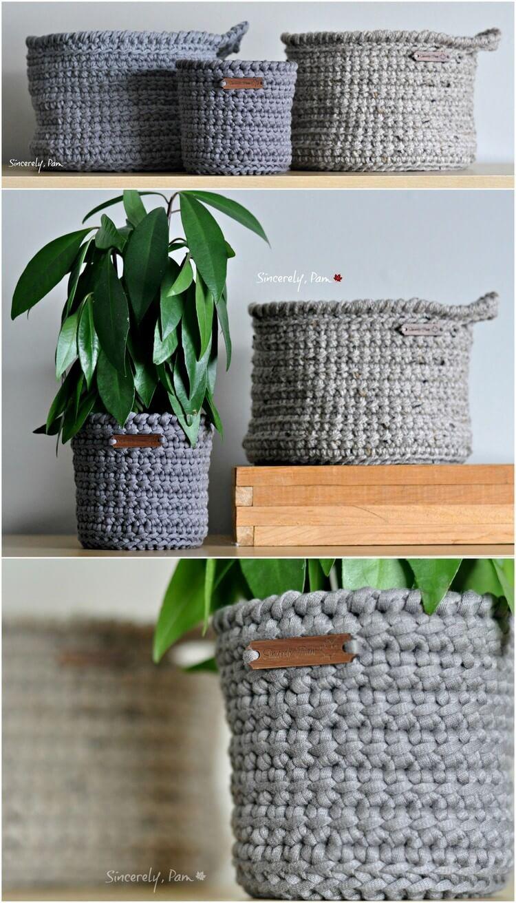 Crochet Basket Pattern (18)