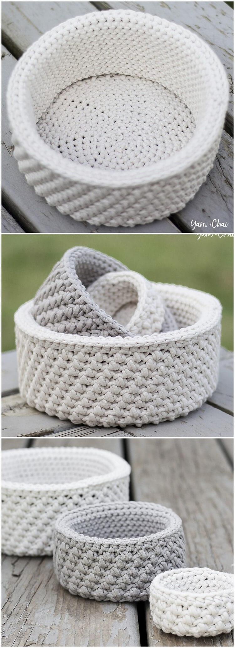 Crochet Basket Pattern (21)