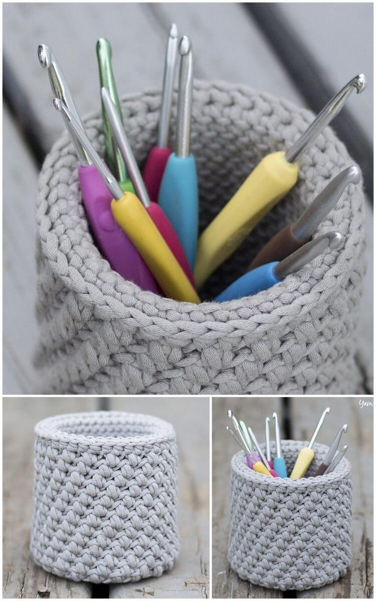 Crochet Basket Pattern (23)