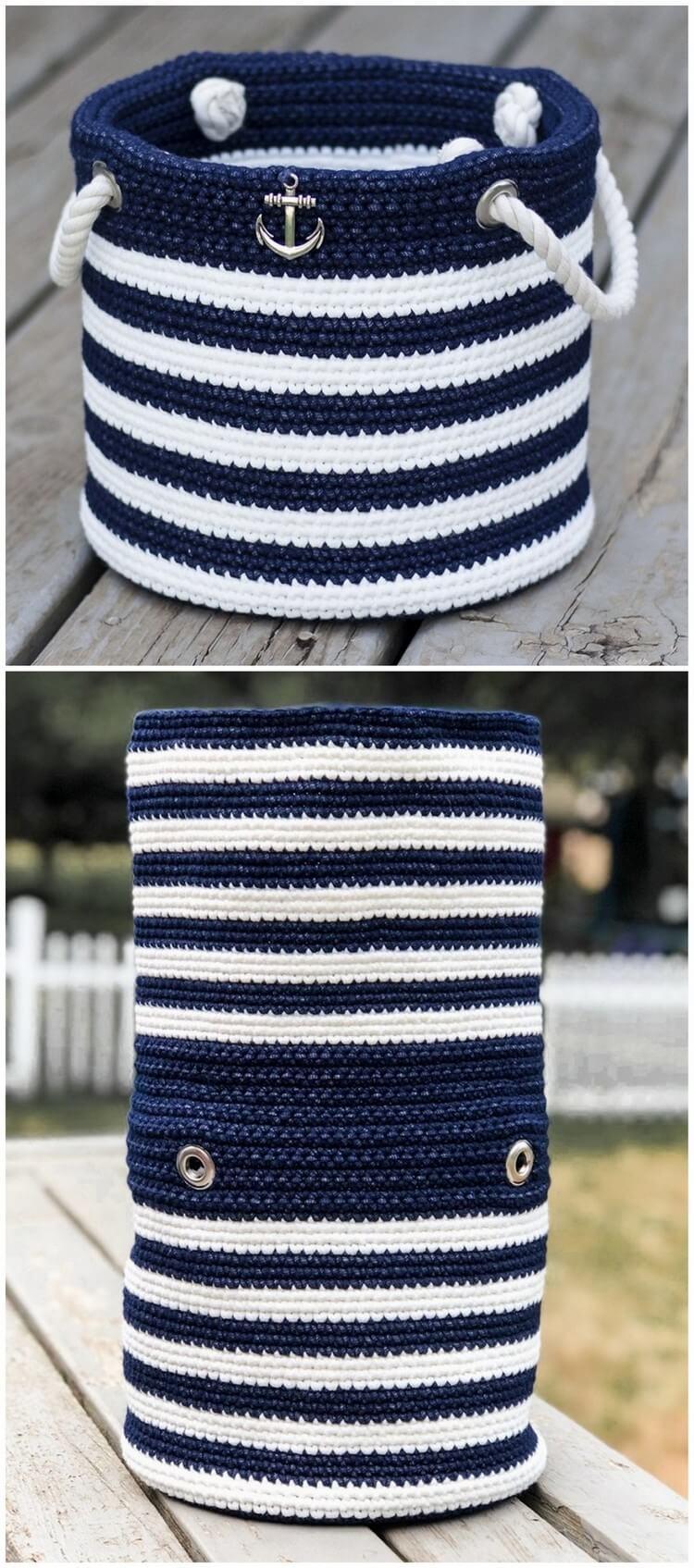 Crochet Basket Pattern (26)