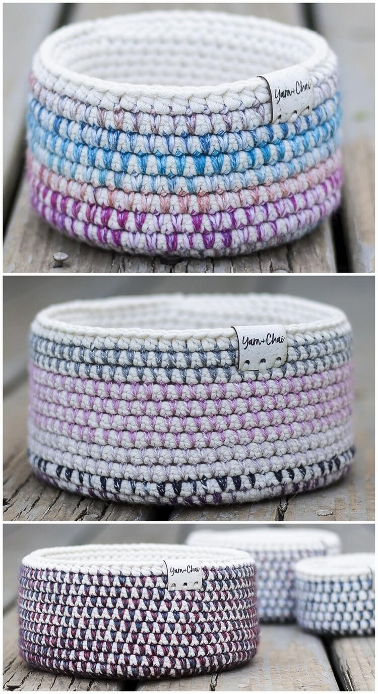 Crochet Basket Pattern (29)