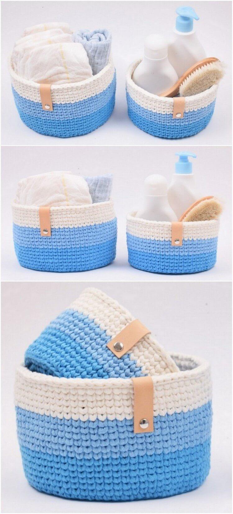 Crochet Basket Pattern (37)