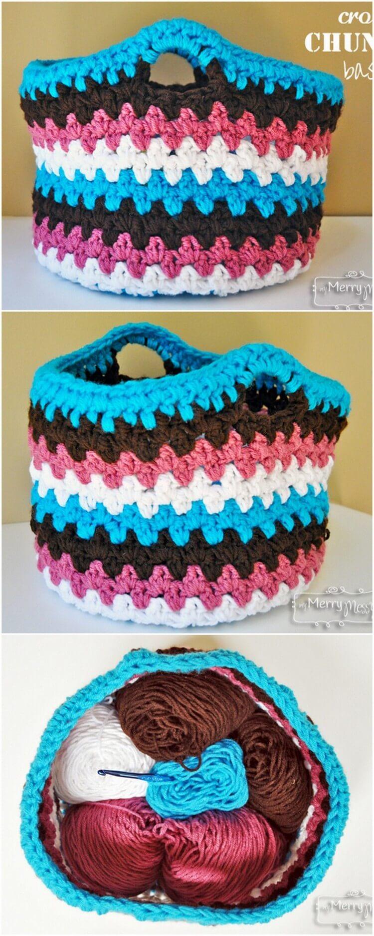 Crochet Basket Pattern (4)