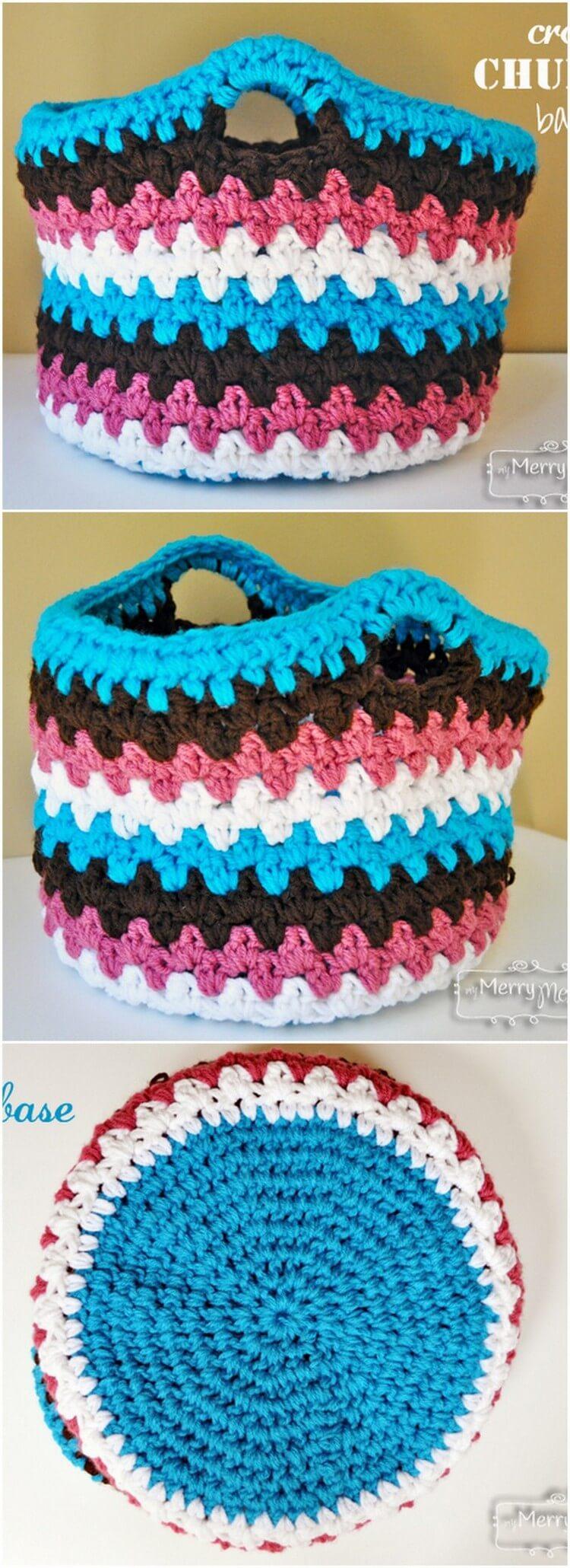 Crochet Basket Pattern (5)