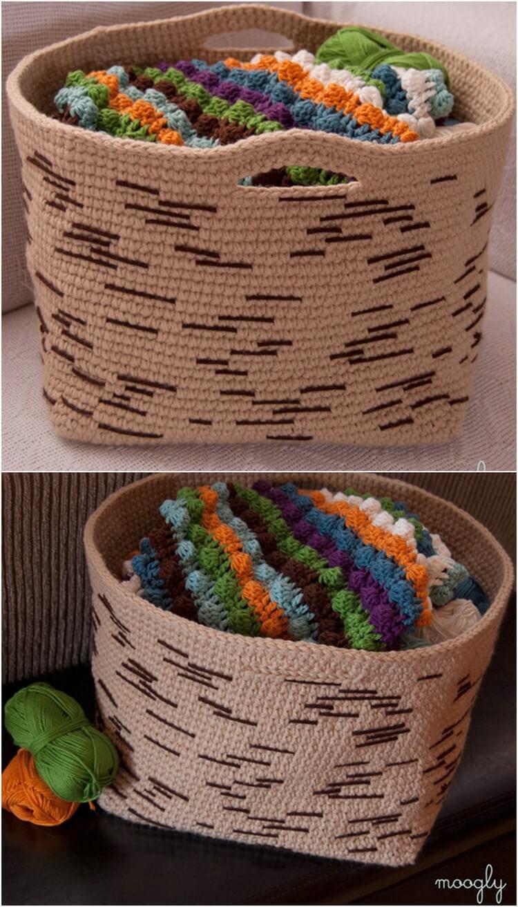 Crochet Basket Pattern (50)