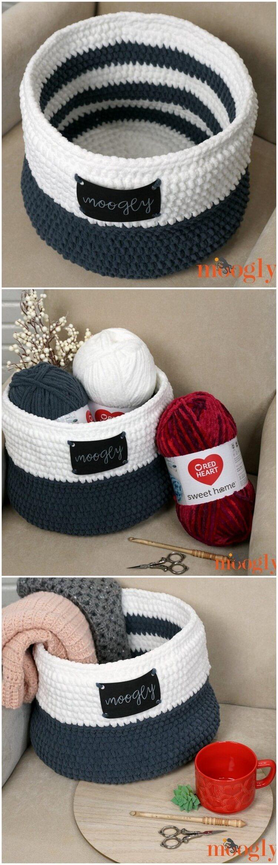 Crochet Basket Pattern (57)