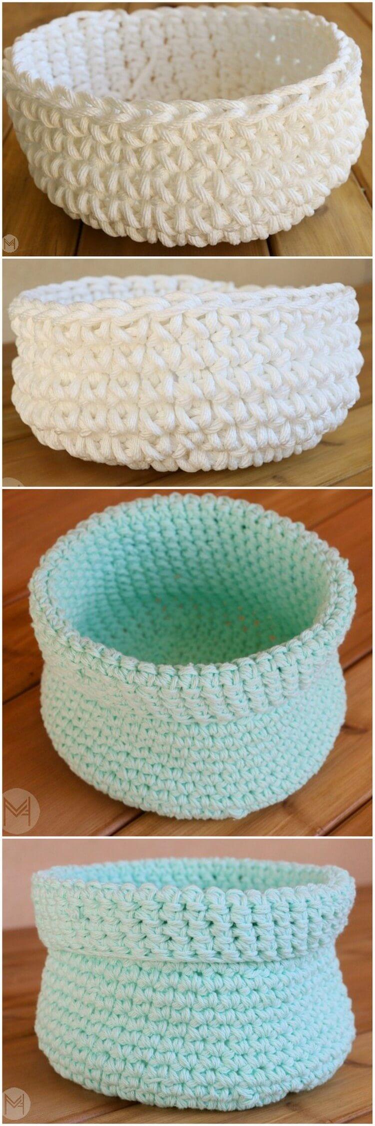 Crochet Basket Pattern (6)