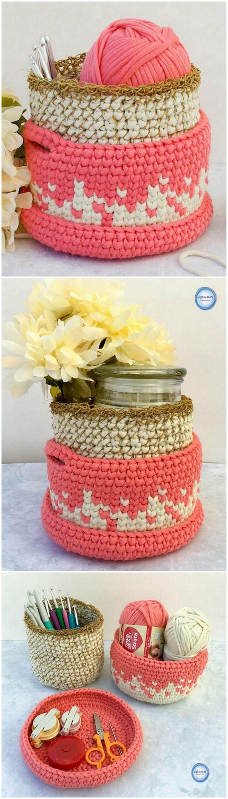 Crochet Basket Pattern (66)