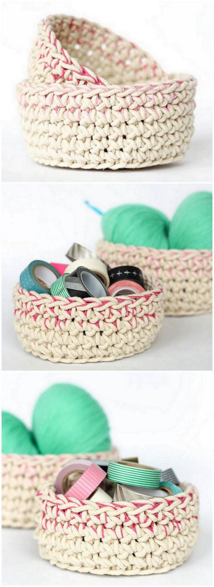 Crochet Basket Pattern (75)