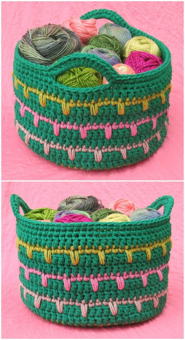 Crochet Basket Pattern (81)