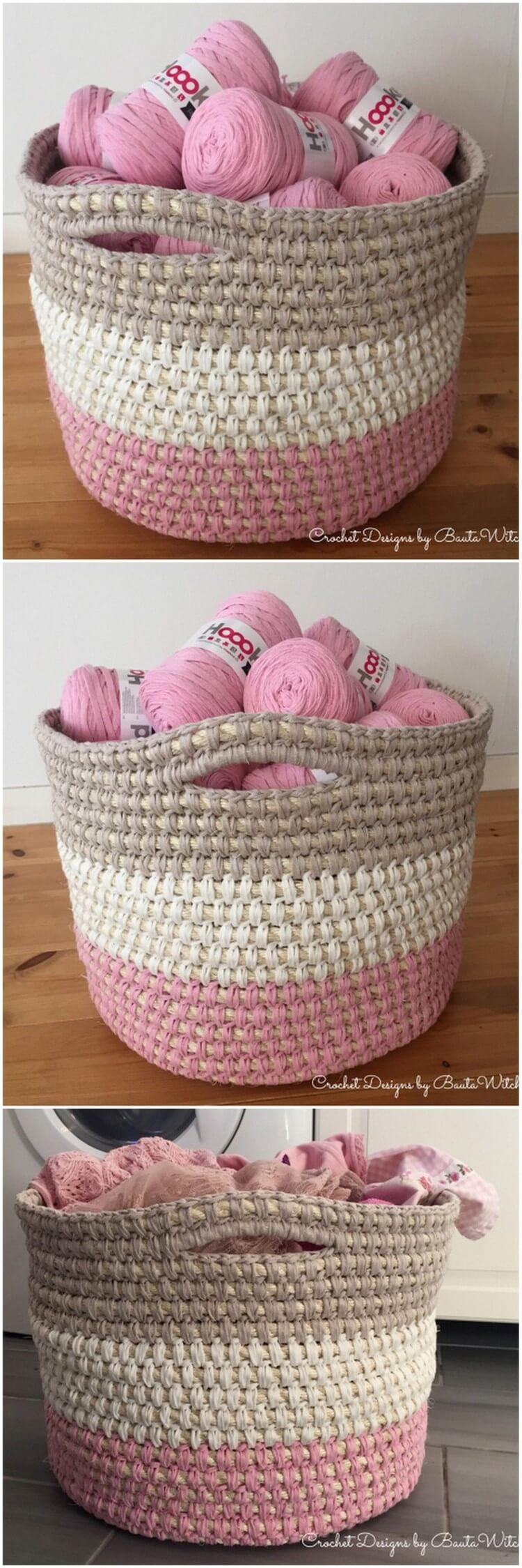Crochet Basket Pattern (84)