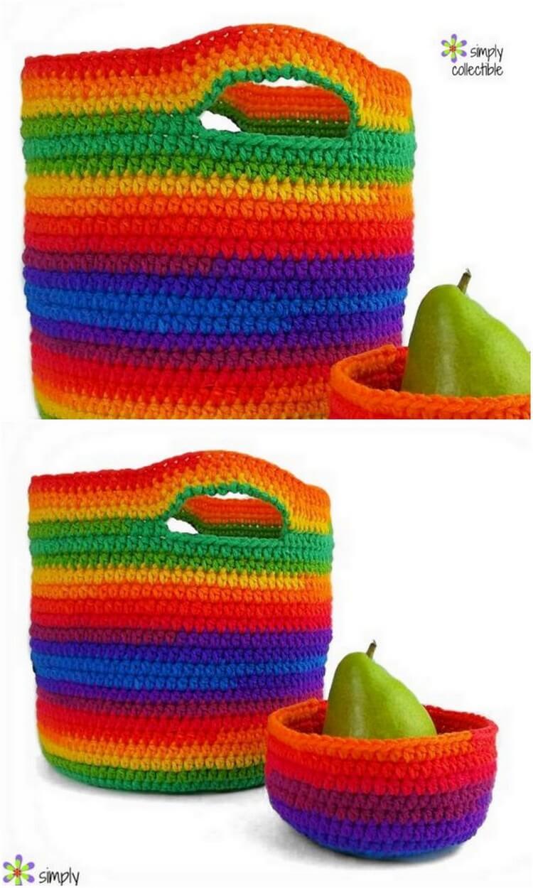 Crochet Basket Pattern (92)