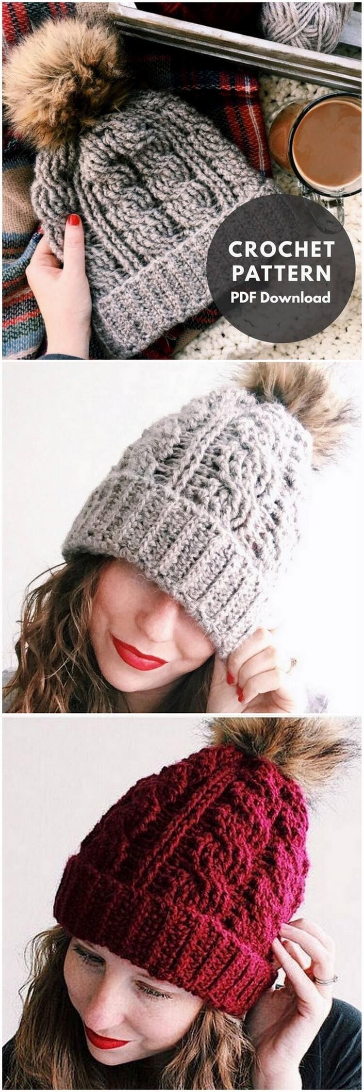 Crochet Hat Pattern (7)