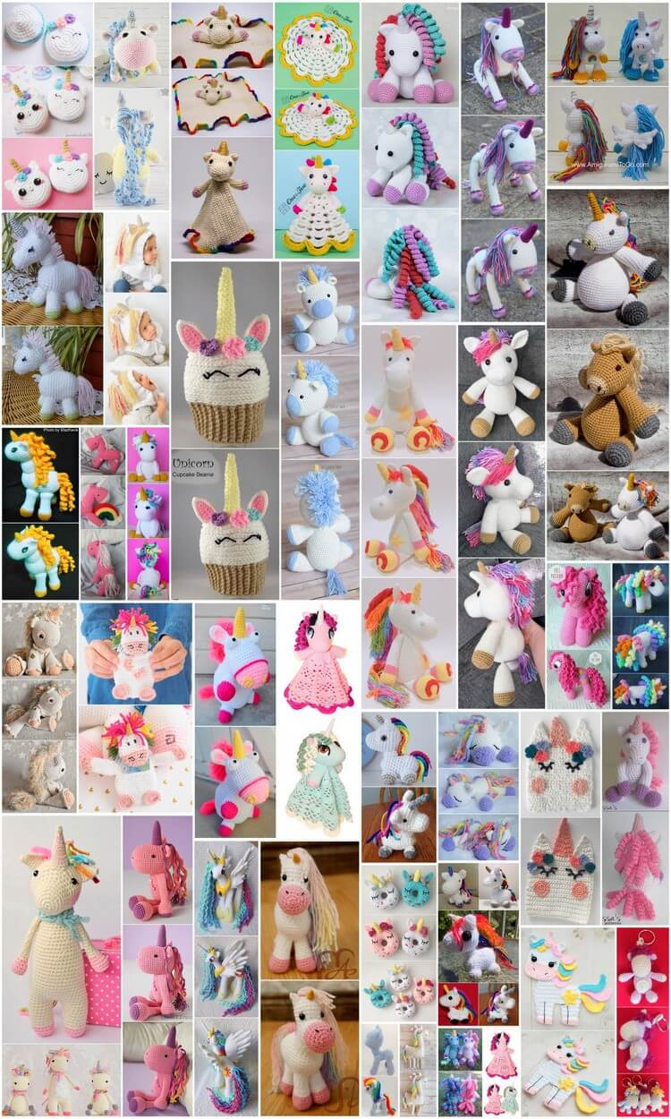 Crochet Unicorn Amigurumi Free Patterns