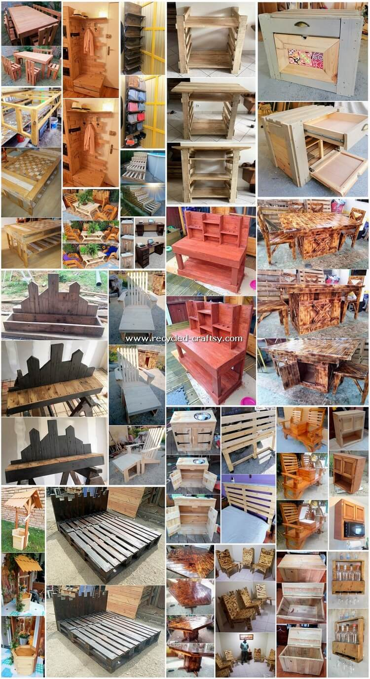 Creative DIY Shipping Wood Pallet Recycling Plans