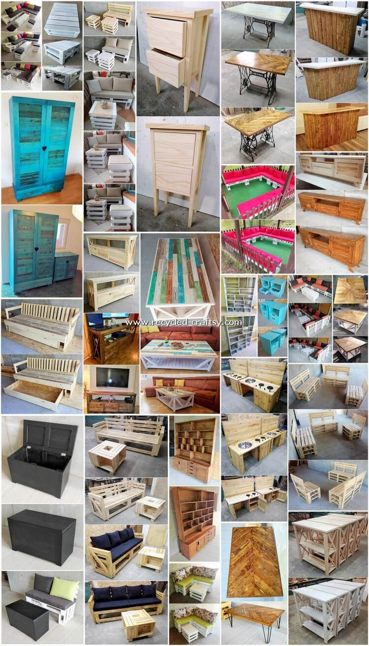 Marvelous DIY Projects Made with Recycled Pallets